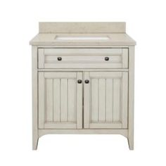 Klein 30 in  Vanity in Antique White with Quartz Vanity Top in Beige and  BasinDiamond Webster Mink Espresso Transitional Bathroom Vanity  Common  . 30 Bathroom Vanity With Top. Home Design Ideas