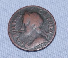 Genuine - Rare - British -  King George II  - Farthing   - Coin  -  c1726-1760 Rare British Coins, King George Ii, Cottages, Royalty, Antiques, Unique Jewelry, Handmade Gifts, Holiday, Vintage