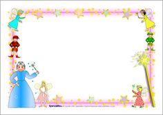 Fairy-themed A4 page borders (SB2270) - SparkleBox