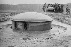 Block 14 at Ouvrage Hochwald in 1940 - was a response to France's experience in WW I and was constructed during the run-up to WW II. While the fortification system did prevent a direct attack, it was strategically ineffective, as the Germans invaded through Belgium, going around the Maginot Line and attacked it from the rear.