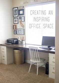 Tips and tricks to creating not only an organized office space but one that inspires too!