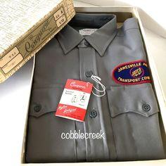 Vtg NWT Work Wear Uniform Shirt S Janesville Auto Transport Trucker WI Orig Box #workwear #uniform #vintage #vintageclothing #union #teamsters #janesville #wi  #trucker