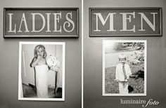 Childhood pic of Daryl and I for bathroom doors! Cute idea