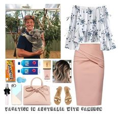 """""""Vacation in Australia with Cameron"""" by majerimia ❤ liked on Polyvore featuring WtR, Mansur Gavriel, Ancient Greek Sandals, Casetify, Yves Saint Laurent and Eos"""