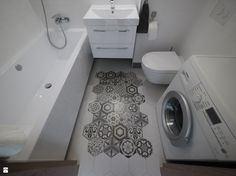 Łazienka z dywanikiem - zdjęcie od Interio-Desi Pracownia Projektowa - Łazienka - Styl Nowoczesny - Interio-Desi Pracownia Projektowa