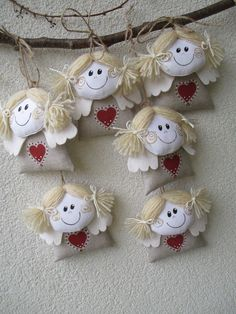 sewing video tutorial for dolls ♥ Felt Christmas, Christmas Crafts, Christmas Ornaments, Hobbies And Crafts, Diy And Crafts, Lavender Crafts, Tie Dye Crafts, Angel Crafts, Ornaments Design