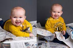 Newspaper pose