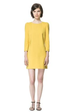 Building a Spring 2013 Wardrobe: DRESS WITH SHOULDER PADS - Dresses - Woman - ZARA Canada