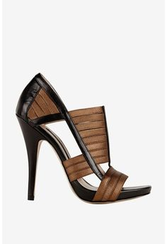 French Connection devlin leather stretch strappy heels