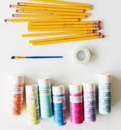 Why get all your school supplies at a store when you can make these DIY ones at home.