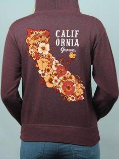 California Grown Zip Up Sweatshirt (Runs Larger)