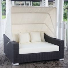 Online Shop Wicker outdoor rattan bed with canopy|Aliexpress Mobile