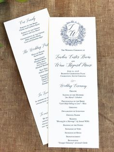 Macy Monogram Wedding Program SAMPLE by LoloLincoln on Etsy $5 00