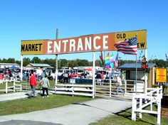 WEBSTER FLEA MARKET, Webster, Florida.  Covers 40 acres, contains 2,000 stalls, accommodates over 1,200 dealers, and receives thousands of visitors annually.  The Flea Market is open every Monday of the year.