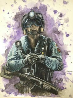 Rainbow six siege fan artwork Rainbow Six Siege Art, Rainbow 6 Seige, Tom Clancy's Rainbow Six, Fantasy Comics, Anime Fantasy, Gamers Anime, War Dogs, Kawaii, Military Art