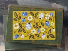 Strawberry Blue, Fawnsberg Stationary, printmaking, design, fruit, summer, colour, plant, pattern, illustration