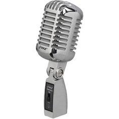 Pyle Pro(R) Classic Die-Cast Metal Retro-Style Dynamic Vocal Microphone, Silver Old School Microphone, Microphone For Sale, Vintage Microphone, Metal Vintage, Vintage Looks, Vintage Style, Retro Style, Retro Design, Vintage Designs