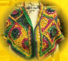 """Dreieckstücher - Handmade-Hippie-Style-Dreieckstuch """"SABA"""" - ein Designerstück von woll-net bei DaWanda"""