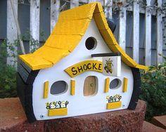 Wichita State Shockers Custom Birdhouse by BirdshacksUSA on Etsy, $45.00 #WATCHUS