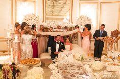A Dazzling All-White, Orchid-Filled Wedding - WedLuxe Magazine Fairmont Hotel, Persian Wedding, Destination Wedding Inspiration, Fairytale Weddings, White Orchids, All White, Wedding Decorations, Wedding Photography, Magazine