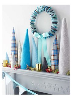 Sweater trees and felt square wreath