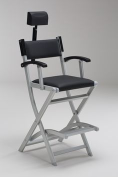 SET ANTI-ROLLOVER MAKEUP CHAIR IN ALUMINIUM S105 + HEADREST. Makeup directors chairs. Cantoni for makeup and aesthetic professionals. Kit makup chair anti-rollover in light aluminum, new exclusive design by Cantoni, composed by S105 Make-up chair, Headrest HR System. This chair can be customized with a text, or your logo or both. #makeupchairs #aluminium #headrest