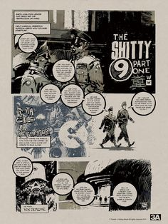 The Shitty 9 Part 1 - Comic by Ashley Wood. #threea