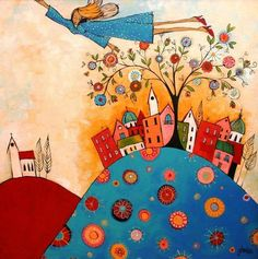Glendine ~ Alice Art Gallery, South Africa leicht, Estela Pérez Lugones on Art And Illustration, South African Artists, Arte Pop, Naive Art, Whimsical Art, Fabric Painting, Art Images, Collage Art, Home Art