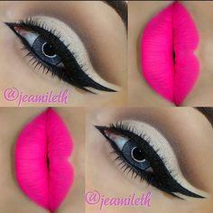 Instagram photo by @jeamileth via ink361.com Eye Makeup Tips, Makeup Art, Lip Makeup, Make Me Up, Eye Make Up, How To Make, Crazy Makeup, Makeup Designs, Lipstick