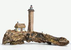 Leuchtturm Haus Holz Treibholz Driftwood Lighthouse Wasser Meer Ocean Gischt Abenteuer Urlaub