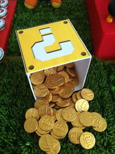 Mario chocolate coin box