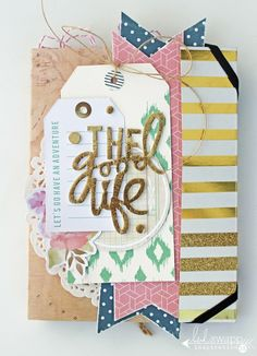 Insta Love~ The Good Life Portfolio~ a mini album by @sarahbargo for @heidiswapp using the gorgeous new Wanderlust Collection! #heidiswapp #hswanderlust #scrapbooking #minialbum