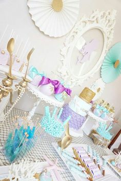 pastel children's party