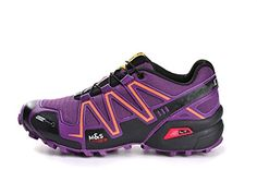 SOLY Womens CrossCountry Hiking Shoes Outdoor Speedcross 3 Breathable Sports Running Shoes Light Black Purple41EU *** Check this awesome product by going to the link at the image.(This is an Amazon affiliate link and I receive a commission for the sales)