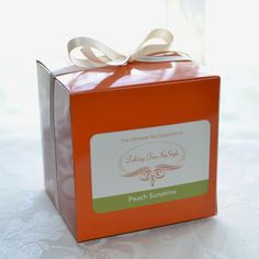 Peach Sunshine custom tea bag package $12.95.   Purchase today, get $1 off
