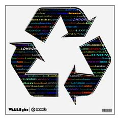 London Text Design I Wall Decal Recycle