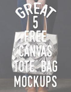 5 Great Free Canvas Tote Bag Mockups