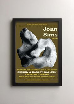 British comedy lovers and movie poster collectors will enjoy this exhibition poster which imagines if Joan Sims, one of the stars of the Carry On films, had also been an avant garde artist, and had exhibited monumental bronze sculptures in London in the early 1960s. This make-believe memorabilia has been designed in a convincing retro vintage style, inspired by many of the exhibition posters displayed in London in the 1960s - a cool, solid, dynamically international look that characterised…