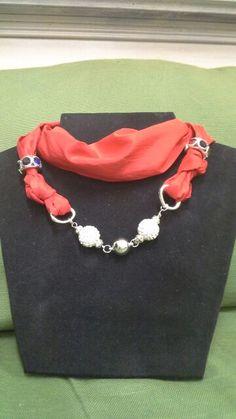 Foulard  collana in seta pura