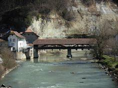 Pont de Berne, Fribourg Berne, Covered Bridges, See It, Switzerland, Cabin, House Styles, Bridge, Covered Decks, Cabins