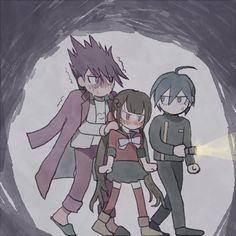This trio is Awesoum u knuw? An Assassin gurl, Detectiveu boi & Space boi New Danganronpa V3, Danganronpa Memes, Danganronpa Characters, Kaito, And So It Begins, Crime, Fanarts Anime, Fan Art, Drawings