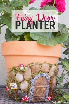 Clay Pot Fairy Door Planter
