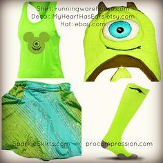 Monsters inc running costume run disney