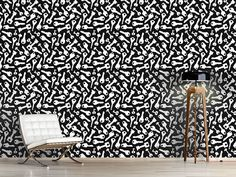 Design #Tapete Folsom Prison Schwarz Prison, Animal Print Rug, Rugs, Design, Home Decor, Self Adhesive Wallpaper, Wall Papers, Monochrome, Farmhouse Rugs