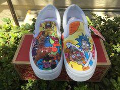 Custom Rick and Morty Vans
