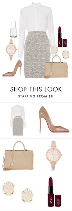 """Untitled #139"" by marr-neubauerova on Polyvore featuring HUGO, Christian Louboutin, Yves Saint Laurent, River Island, Kendra Scott, NYX and Essie"