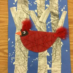 "41 Likes, 4 Comments - HES Art Room (@hes.artroom) on Instagram: ""Today my adapted art class finished their winter cardinals. Saying that understanding how to work…"""
