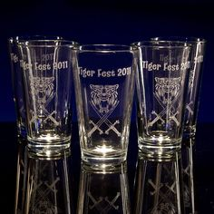 customized pint glasses are GREAT gifts and event swag!  from GlassWithATwist.com