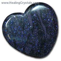 Hearts - Blue Goldstone Heart- Blue Goldstone - Healing Crystals
