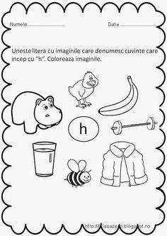 Clasa pregatitoare: Fisa de lucru sunetul si litera H Flower Crafts, Homeschooling, Language, Parenting, Teaching, Education, Comics, Fictional Characters, Tattoos